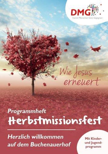 DMG-Herbstmissionsfest 2017 // Programmblatt