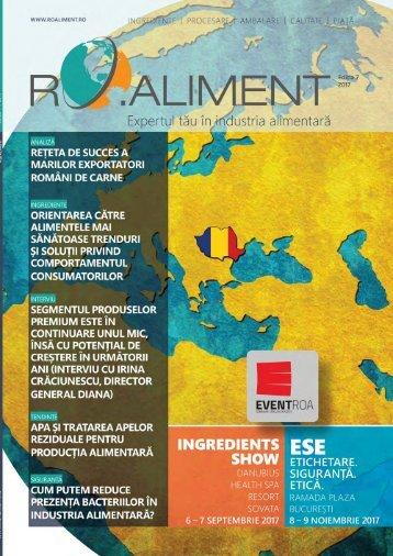 Revista RO:aliment editia 7 - ingrediente - procesare - ambalare - tehnologii - piata - calitate