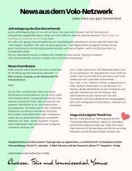 Newsletter des Volo-Netzwerk des Bundesverbandes Hochschulkommunikation
