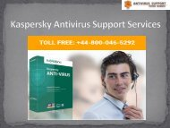 +44-800-046-5292 Kaspersky Antivirus Support Services