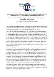 European ECO Forum statement on EU non-compliance to Aarhus MoP 14 Sept