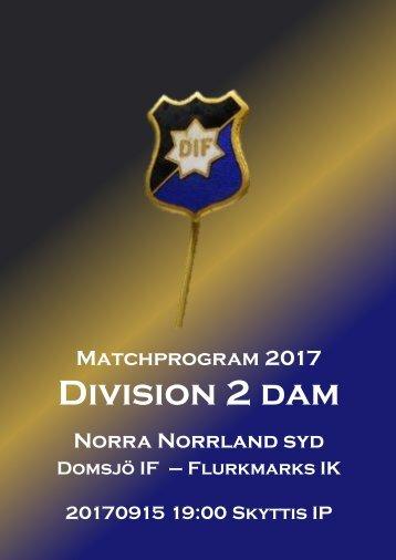 Matchprogram_20170915_DIF-FIK