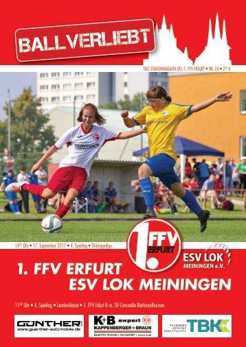 BALLVERLIEBT Nr. 24 - Das Stadionmagazin des 1. FFV Erfurt