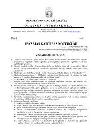 IEKŠĒJĀS KĀRTĪBAS NOTEIKUMI - Olaines 1. vidusskola