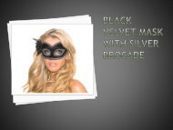 Black Velvet Mask With Silver Brocade