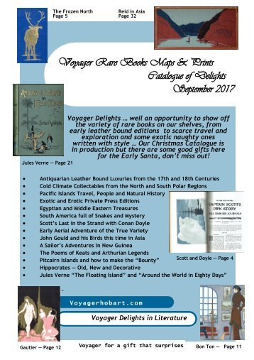 Voyager Rare Books Maps & Prints - Catalogue of Delights - September 2017
