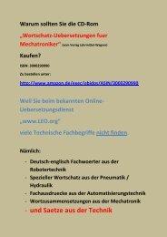 look up technical words - deutsch-englisch Uebersetzungen:  Technik-Begriffe nachschlagen