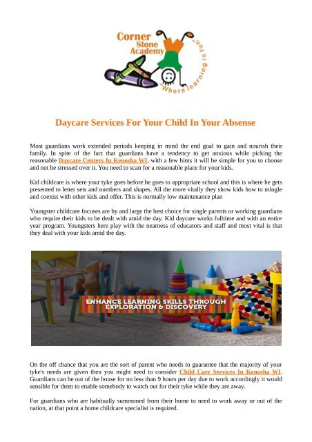 Daycare Services For Your Child In Your Absense The act of substituting or putting one person or thing in the place of another; www yumpu com