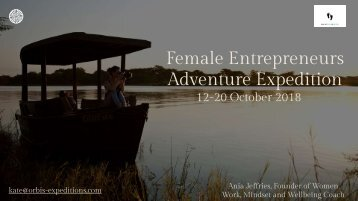 Female Entrepreneurs Adventure Expediiton 2018