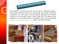 Stair Warehouse Reviews