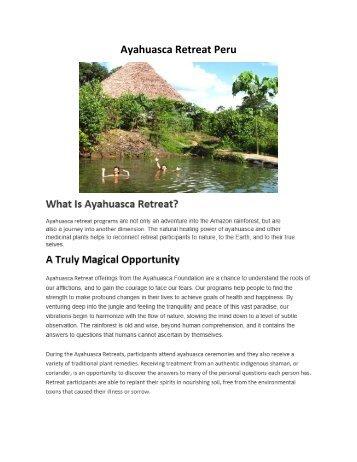 Ayahuasca Retreat Peru