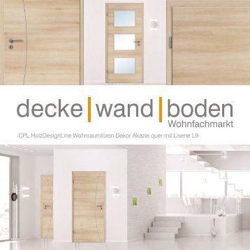 dwb Wohnraumtüren CPL Holz Design Line mit Lisene L9 Akazie quer