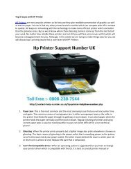 Top 5 Issues with HP Printer