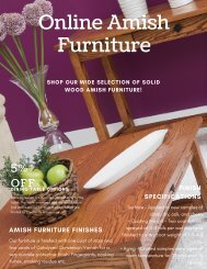 Amish Living Room Furniture | Up to 5% Off at Online Amish Furniture