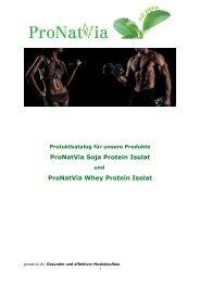 Top Angebote ProNatVia Soja Protein Isolat und  Whey Protein Isolat für Wiederverkäufer