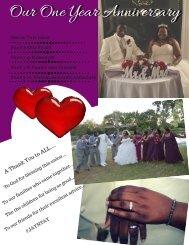 Wedding anniversary photo book