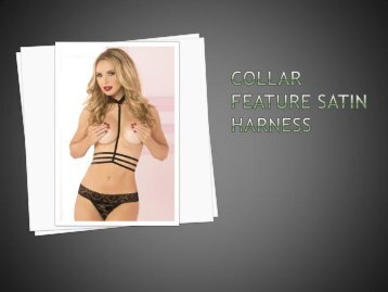 Cassinovas Collar Feature Satin Harness