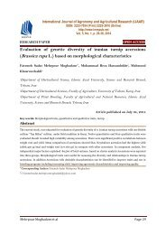 Evaluation of genetic diversity of iranian turnip accessions (Brassica rapa L.) based on morphological characteristics
