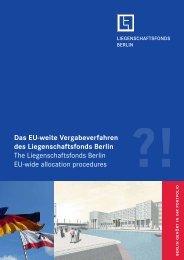 Das EU-weite Vergabeverfahren des Liegenschaftsfonds Berlin The ...