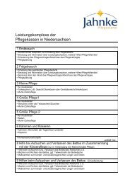 Leistungen der Pflegekassen - Jahnke Pflegedienst