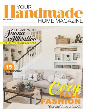 Your Handmade Home Magazine October 2017
