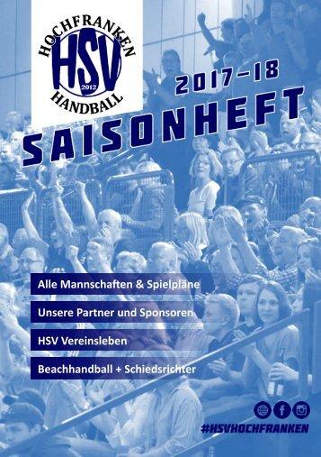 HSV Hochfranken Saisonheft 2017-18