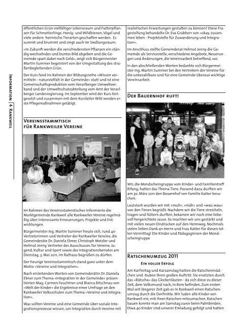 Woche 19 - Marktgemeinde Rankweil