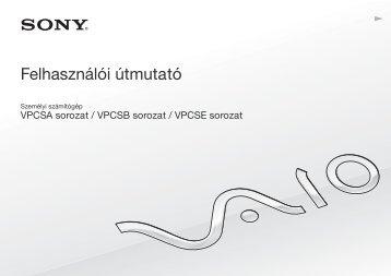 Sony VPCSE2V9E - VPCSE2V9E Mode d'emploi Hongrois