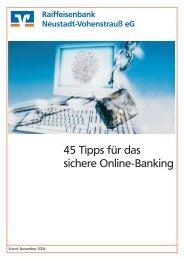 45 Tipps für das sichere Online-Banking - Raiffeisenbank Neustadt ...