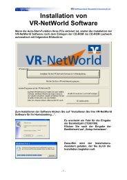 Installation von VR-NetWorld Software
