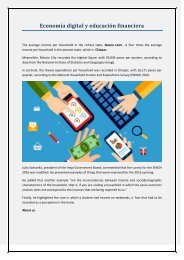 Economía digital y educación financiera