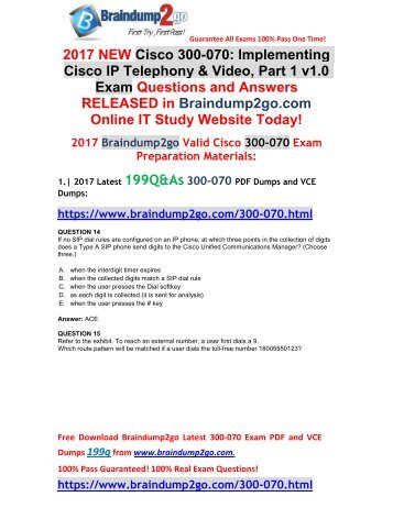 [2017-Sep-Version]New 300-070 PDF and 300-070 VCE 199Q&As Free Share(14-27)