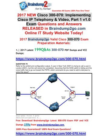 [2017-Sep-Version]New 300-070 VCE and 300-070 PDF Dumps 199Q&As Free Share(70-83)