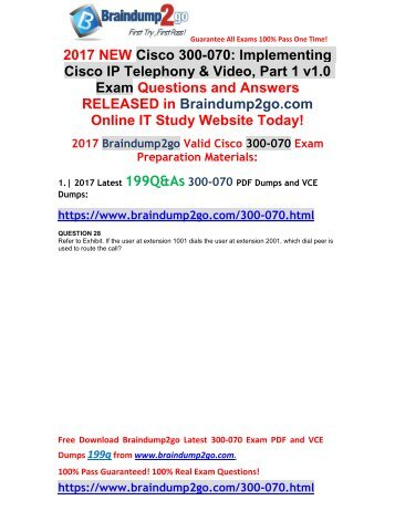 [2017-Sep-Version]New 300-070 VCE and PDF Dumps 199Q&As Free Share(28-41)