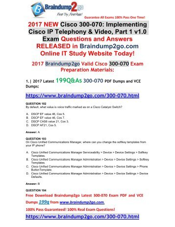 [2017-Sep-Version]New 300-070 VCE Dumps 199Q&As Free Share(101-114)
