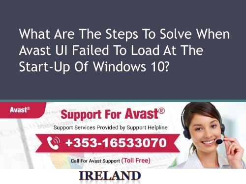 ui failed to load avast windows 10