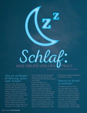 Über die Wichtigkeit von Schlaf
