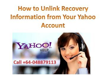 How to Unlink Recovery Information from Your Yahoo Account