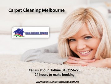 Carpet Cleaning Melbourne - Local Cleaning Services