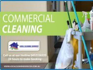 Commercial Cleaning Melbourne - Local Cleaning Services