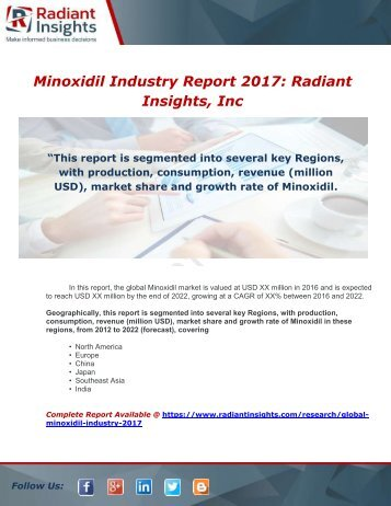 Global Minoxidil Industry 2017 Market Research Report