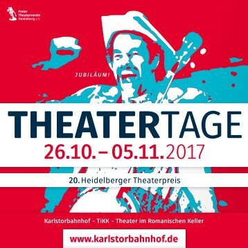 Programmheft HEIDELBERGER THEATERTAGE 2017