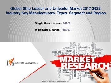 Ship Loader and Unloader Market 2017 Share, Size, Forecast 2022