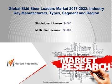 Skid Steer Loaders Market 2017 Share, Size, Forecast 2022