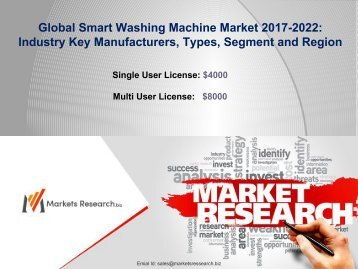 Smart Washing Machine Market 2017 Share, Size, Forecast 2022