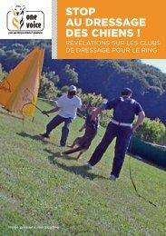 Stop au dressage des chiens