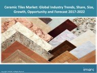 Ceramic Tiles Market Trends, Share, Size and Forecast 2017-2022