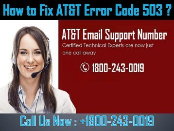 How to Fix AT&T Error Code 503? Call 1-800-243-0019
