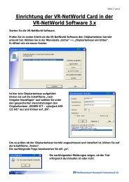 Einrichtung der VR-NetWorld Card in der VR-NetWorld Software 3.x