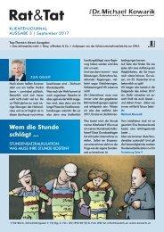 Rat & Tat - Klienten-Info / Ausgabe 1/2015